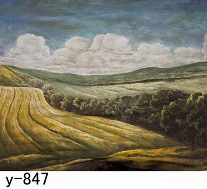 Pro Photo Bakcground, Hand Painted Muslin Photography Studio Backdrops/ Background,Free DHL/FedEx/UPS/EMS<br>