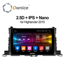 Ownice c500 + Android 8,1 для Toyota Highlander 2015 2 ГБ Оперативная память dvd-плеер gps map WI-FI 4G LTE BT Радио OBD2 камера-видеорегистратор TPMS ТВ(China)