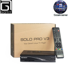 Solo Pro V3 Satellite Receiver DVB-S2 Linux Enigma2 System with 1 Year Europe Spain UK French Italy Polish Germany CCcam Server