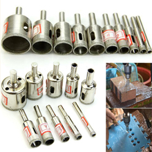 10pcs/set High Quality  Diamond Coated Core Saw Drill Bits Set Tool For Glass Ceramic Hole Marble 6-30mm