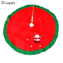 Non-Woven Fabrics 90cm Santa Claus Christmas Tree Skirt Aprons Christmas Decorations for Home Navidad Christmas Tree Ornaments(China)