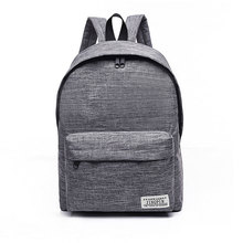 Brand Canvas Men Women Backpack College High Middle School Bags For Teenager Boy Girls Laptop Travel Backpacks Mochila Rucksacks(China)