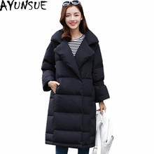 AYUNSUE White Duck Down Jacket Women Casacas Mujer Invierno 2017 Warm Winter Coat Female Thick Parkas Black Down Coats WXF165