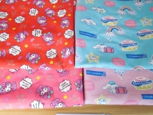 90*145cm patchwork Canvas fabric cartoon Hello Kitty :Cinnamoroll fabric for Tissue Kids  Backpack , Shoe ,Cap for Sewing