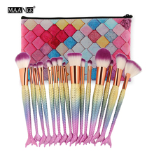 MAANGE 7-16Pcs Makeup Brushes Set Power Foundation Blending Eye Shadow Cosmetic Beauty Tool Make Up Brush Kits With New Case Bag(China)