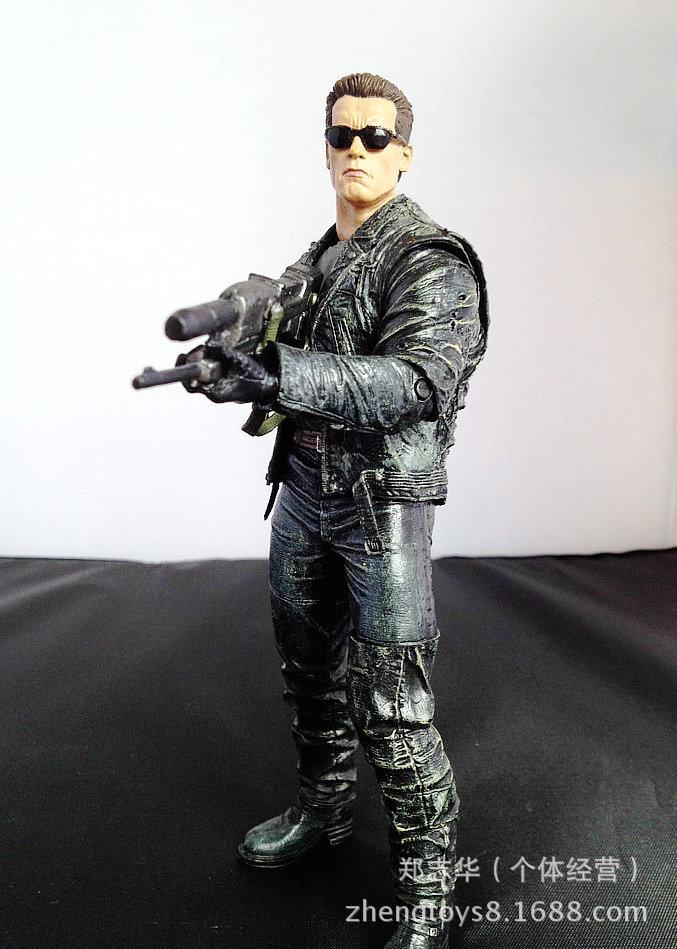 Freeshipping Original edition NECA Stallone Schwarzenegger Terminator T800 7inch  Sunglasses version Toys wholesale<br><br>Aliexpress