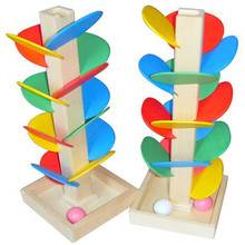 Baby Educational toy Blocks Wooden Tree Marble Ball Run Track Game Baby Kids Children Intelligence Toy