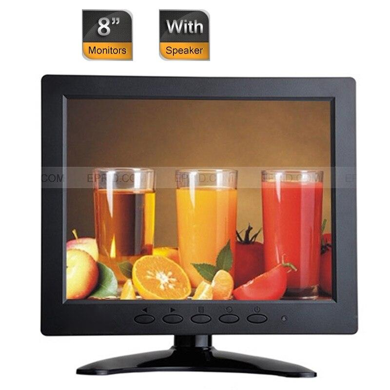 10pcs 8 Car CCTV Security IPS Color Monitor HDMI BNC VGA AV USB Port w/ Speaker<br><br>Aliexpress