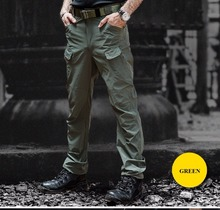 IX7 Gear Military Urban Tactical Pants Men Spring Cotton SWAT Army Cargo Pants Casual Pockets Police Soldier Combat Trouser(China)