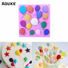 Aouke 1PC Balloons Shape Silicone Cake Decorating Mold Chocolate Mold Pastry Tool Gumpaste Mold G197