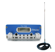 Free shipping  FU-15A 15W FM transmitter  broadcast  FM exciter with the car sucker antenna and car power adapter