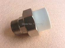 Free shipping Color White DN 40X11/4M Enviroment friendly plastic ppr Male union fittings(China)