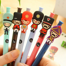 Cute Kawaii Cartoon Soldier Ballpoint Pens Korean Stationery ball point pen for Kids School Supplies Gifts Free shipping 419