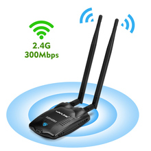 Wavlink Wireless 300Mbps High Power USB WiFi Adapter Network Card adaptor Antenna wifi receiver 500mW 27dBm IEEE 802.11b/g/n NEW(China)