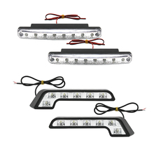 High Quality LED Car Daytime Running Lights DRL 8 LED COB Chips Auto Fog Lamp Headlight Accessories 6000K DC 12V Car Styling