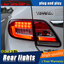 Car Styling LED Tail Lamp for Toyota Corolla Tail Light 2011-2013 for Corolla Rear Light DRL+Turn Signal+Brake+Reverse LED light(China)