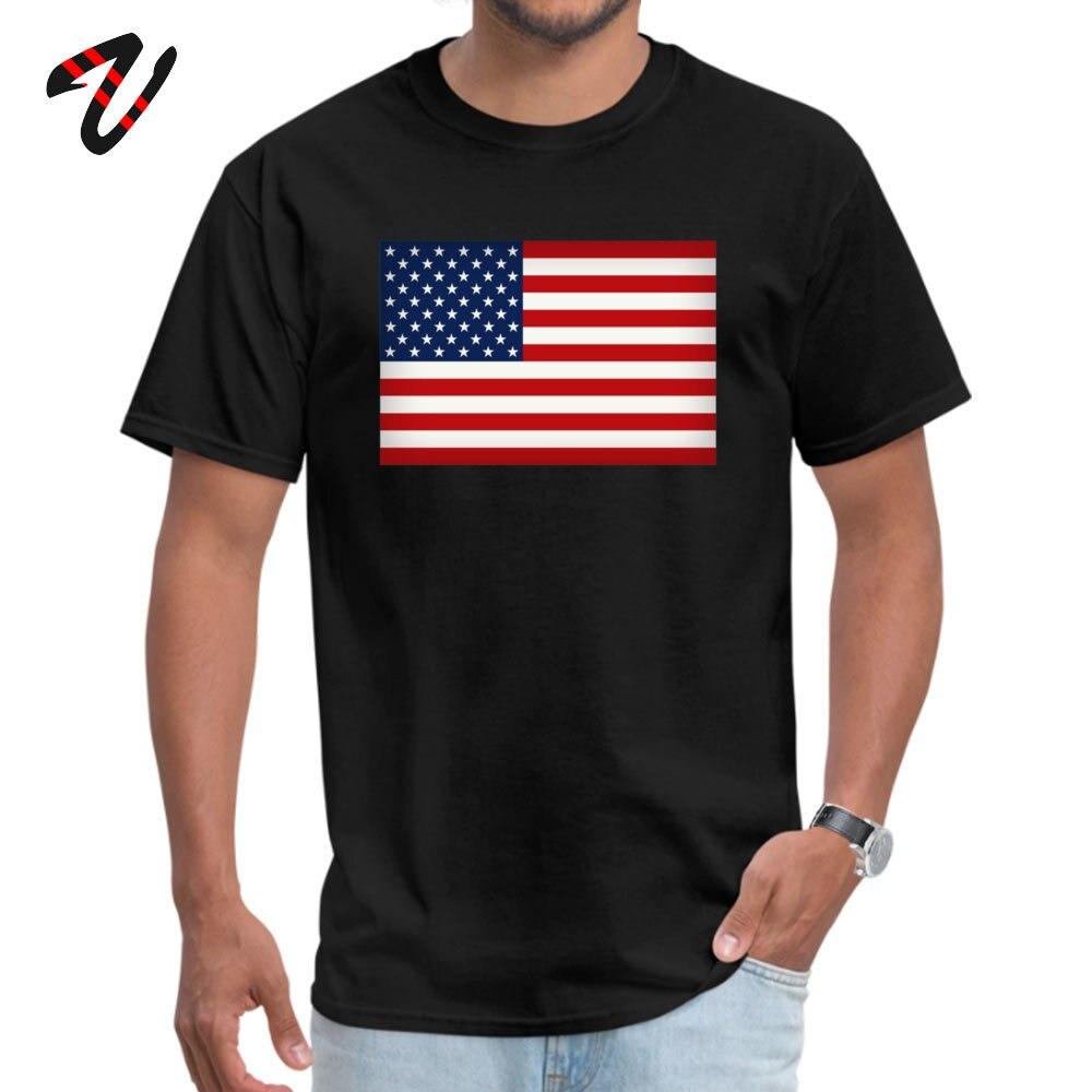 Funny American Flag T-Shirt New Arrival Summer Fall Short Sleeve Round Collar T Shirt 100% Cotton Fabric Men 3D Printed T Shirts American Flag 5782 black