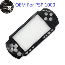 Black Color Front Housing Shell Cover Case Replacement For Sony PSP1000 PSP 1000 Game Console with Box Packaging(China)