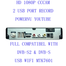 HD-A800 free shipping set top box Satellite Receiver DVB-S2 1080P HD satellite TV Decoder You tube, cccam, powervu,NEWCAM(China)
