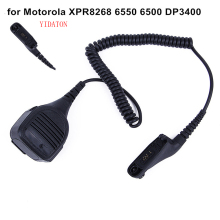 YIDATON New Mic Microphone for Motorola walkie talkie XPR8268 6550 6500 DP3400 Handheld Speaker Mic for Motorola Radio(China)