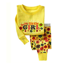 Fashion girl's clothing set spring cotton baby girls sets children's pajamas suit sleepwear Dora cartoon print t-shirts+pants(China)