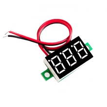 Blue Second line precision dc digital voltmeter head LED digital voltmeter DC4.5V-30V