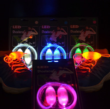 Free Shipping (2 pairs/lot) Boys Girls Kids Light Up LED Shoelaces Flash Party Disco Shoe Laces Shoe Strings(China)