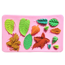 New Creative Food Grade Silicone,Many Kinds Of Leaves Shape For Cookie Cutter, Fondant Bakeware Decorating, Chocolate, Lace Mold(China)