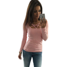Buy 2017 sexy tight fashion roupa feminina tee shirt femme clothes women female tshirts tumblr poleras camisetas mujer t-shirt for $3.68 in AliExpress store