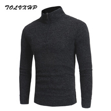 Buy TOLVXHP Men'S Sweaters Winter Half Height Zipper Thick Warm Pullover Cashmere Wool Sweater Men Fashion Slim Knitting Sweater for $16.35 in AliExpress store