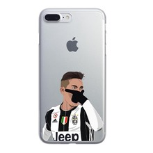 Coque Soft silicone TPU Juventus Football Phone Cases for iPhone 6 6s 5 5s SE 7 7Plus Paulo Dybala Costa Sport Stars