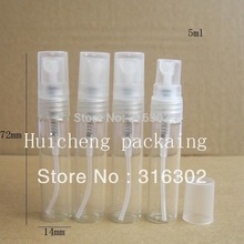 50pcs/lot 5ml empty glass spray bottle small atomizer perfume bottles atomizing spray Liquid Container