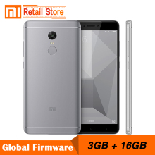 "Xiaomi Redmi Note 4X 3GB RAM 16GB ROM Mobile Phone 4 X Snapdragon 625 Octa Core 4G Smartphone 13.0MP 5.5"" Display Fingerprint ID"
