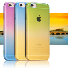 Color Gradient Phone Case For iPhone 7 6 6s 5 5s 4 4s 5C SE 6Plus 6s 7 Plus Cover Soft TPU Silicone Ultrathin Housing Casing