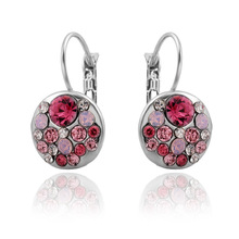 Brincos Ohrringe Phone 2pair wholesale USA style Bohemia Earring UK New women red di-mond jewelry rose gold earrings ear clip