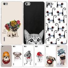 Cute Puppy Pug Bunny Cat Princess Meow Bulldog cell phone Cover Case for huawei honor 3C 5A 4A 4X 4C 5X 6 7 8 Y6 Y5 2 II Y560