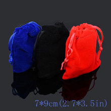 10pcs/bag Jewelry Packing Velvet bag 7x9cm,packaging bags Drawstring Gift bags & Pouches