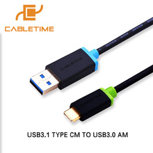 Cabletime USB Type C Cable Fast Charging Type C To USB 3.0 Cable 1m/2m Connection Adapter For Xiaomi Type c Date Cable N039(China)