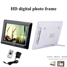 8 inch Ultrathin HD Digital Photo Frame with Alarm Clock MP3 MP4 Movie Player digital Photo Picture Album with Remote control