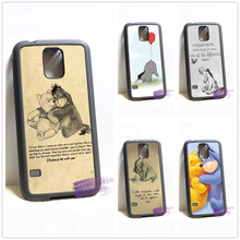 Winnie The Pooh Eeyore Quotes Vintage cell phone cover case for samsung galaxy S3 S4 S5 S6 edge S7 edge Note 3 4 5 #wt458