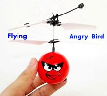 Upgrade Best Price Quality 2017 Fly Flash Ball Remote Control RC Toys Despicable Red Bird Helicopter Quadcopter Drone Ar.drone(China)