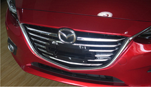 Front grille trims for Mazda 3 Axela 2014 2015,ABS chrome,11pcs/set ,auto accessories