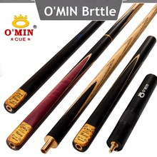 OMIN Snooker Cue, Model Victory, 145cm Length, 10mm Cue Tip, 3/4 Jointed cues, Handmade Billiard Stick,Free Shipping