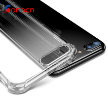 Ultra Thin Soft transparent TPU Case For iPhone 8 6 6s Plus clear silicone Case Cover For iPhone 7 7 Plus Phone Bag Case(China)