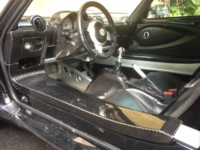 2008-2011 Lotus Exige S2 Elise S2 Door Sill DCF Matte Finish (10)