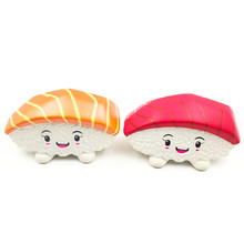 Squishy Sushi Toys For Children Kawaii Squishies Jumbo Pretend Play Toys For Kitchen Sushi Toy Food Set Kids Christmas Gifts(China)