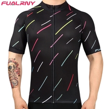 New Listing Fualrny Men Bicycle Bike Cycling Jerseys Jackets Cycling top Short Sleeve Breathable Zipper Jersey Ropa Ciclismo(China)