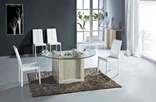 Natural Travertine Dining Table Set Luxury High Quality Natural Store Marble Dining Furniture Round Table NB-172(China)