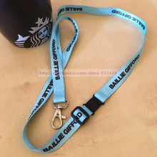200pcs/lot Retail and wholesale with Best Price Thick Woven Embroidered Lanyards with Customized Logo