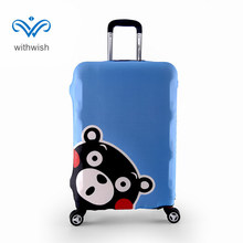 "Plus Size S/M/L/XL Elastic Suitcase Luggages Protective Cover Apply to 18""~32"" Traveling Case 3 Kawaii Kumamon Patterns Optional(China)"